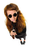 Woman with a gun Stock Photography