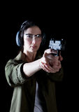 Woman gun Royalty Free Stock Photography