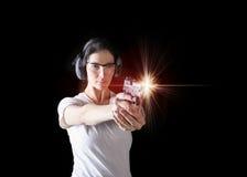 Woman gun Royalty Free Stock Image