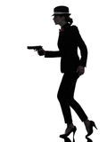 Woman gun gangster killer silhouette Stock Photo