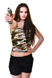 Woman with gun Stock Image