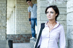 Woman and a guy Stock Photography