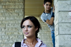 Woman and a guy Stock Image