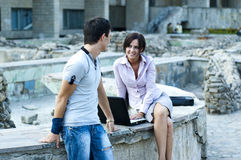 Woman and a guy Stock Images