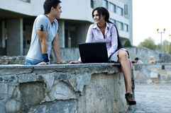 Woman and a guy Royalty Free Stock Photo