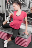 Woman in a gym Royalty Free Stock Images