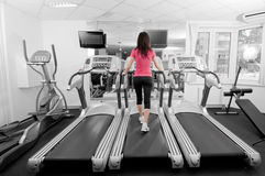 Woman in a gym Stock Photography