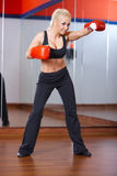 Woman at the gym Royalty Free Stock Images