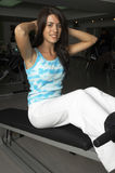 Woman in Gym Royalty Free Stock Photography