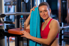 Woman in gym Stock Image