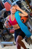 Woman in gym Stock Photography