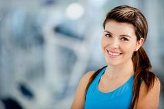 Woman at the gym Stock Images