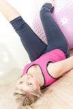 Woman at gym Royalty Free Stock Photos