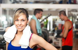 Woman in the gym Royalty Free Stock Images