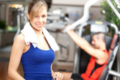 Woman in the gym Stock Photography