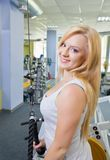Woman in a gym Royalty Free Stock Photos