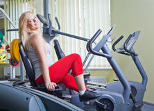 Woman in a gym Royalty Free Stock Photo
