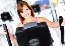 Woman at the gym Royalty Free Stock Image