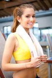 Woman in the gym Royalty Free Stock Photos