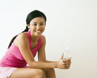 Woman at gym Stock Photography