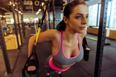 Woman in gym Stock Photo