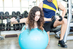Woman at the gym Royalty Free Stock Photo