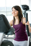 Woman at the gym - cardio Stock Photos