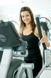 Woman at the gym - cardio Royalty Free Stock Photo