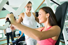 Woman at the gym. Fitness Stock Photo