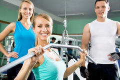 Woman at the gym. Fitness Royalty Free Stock Photography