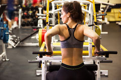 Woman at the gym. Fitness Stock Images