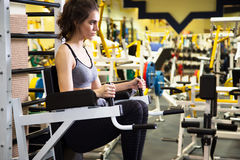 Woman at the gym. Fitness Royalty Free Stock Image