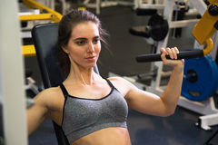 Woman at the gym. Fitness Royalty Free Stock Images