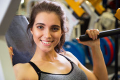 Woman at the gym. Fitness Royalty Free Stock Photo