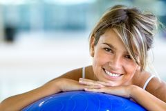 Woman at the gym smiling Stock Photography