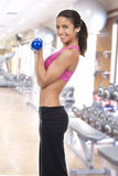 Woman in the gym Royalty Free Stock Photography
