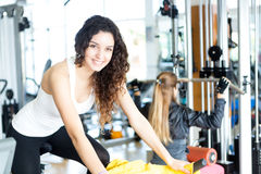 Woman at the gym Royalty Free Stock Photography