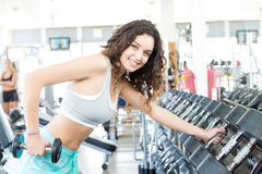 Woman at the gym Stock Image