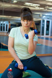 Woman gym exercise sport club Stock Photography