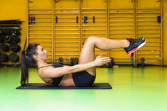 Woman in the gym Royalty Free Stock Image