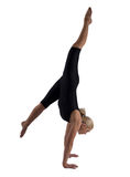 The woman the gymnast Royalty Free Stock Images