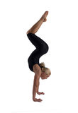 The woman the gymnast. On a white background stock photos