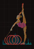 Woman gymnast. Stock Images