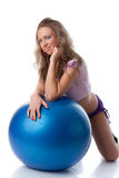 Woman with gymnastic ball Stock Photo