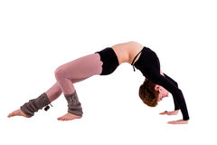 Woman in gymnastic pose Stock Images