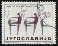 Woman gymnastics Stock Photos