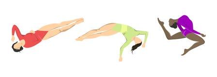 Woman at gymnastics. Stock Photos