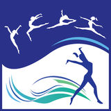 Woman gymnastics vector Stock Image