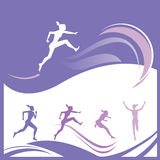 Woman gymnastics vector Stock Photo