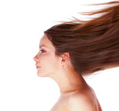 Woman with hair Stock Photography